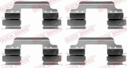 OJD Quick Brake 109-1648 - Piederumu komplekts, Disku bremžu uzlikas interparts.lv