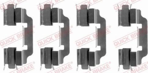 OJD Quick Brake 109-1601 - Piederumu komplekts, Disku bremžu uzlikas interparts.lv