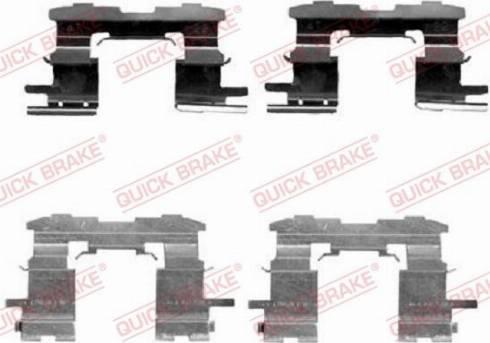 OJD Quick Brake 1091631 - Piederumu komplekts, Disku bremžu uzlikas interparts.lv