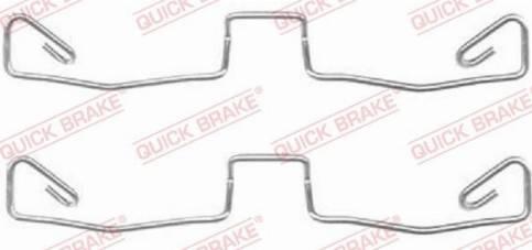 OJD Quick Brake 1091633 - Piederumu komplekts, Disku bremžu uzlikas interparts.lv