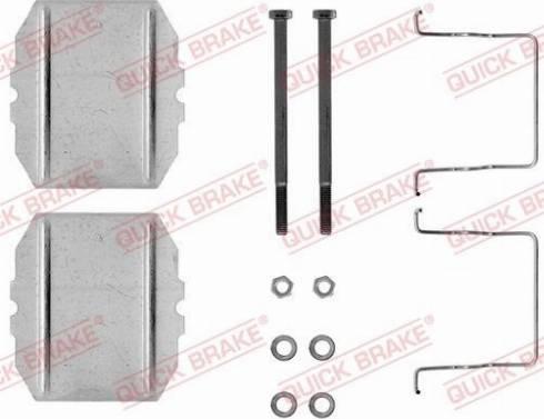 OJD Quick Brake 1091053 - Piederumu komplekts, Disku bremžu uzlikas interparts.lv