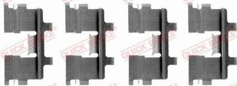 OJD Quick Brake 109-1015 - Piederumu komplekts, Disku bremžu uzlikas interparts.lv