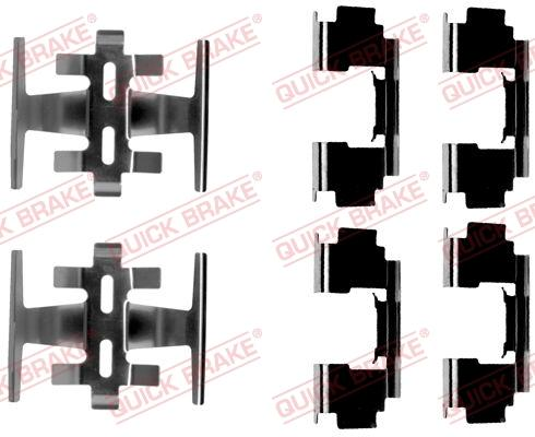 OJD Quick Brake 109-1088 - Piederumu komplekts, Disku bremžu uzlikas interparts.lv
