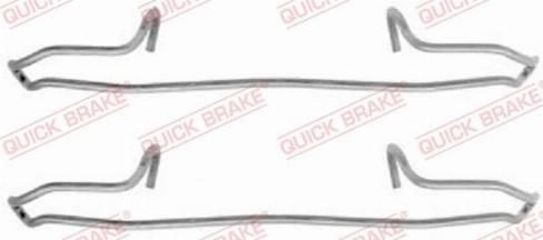 OJD Quick Brake 1091159 - Piederumu komplekts, Disku bremžu uzlikas interparts.lv