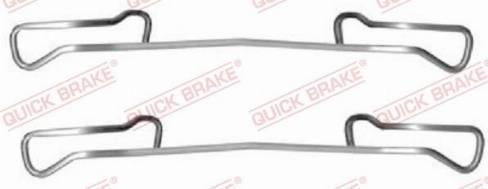 OJD Quick Brake 1091150 - Piederumu komplekts, Disku bremžu uzlikas interparts.lv
