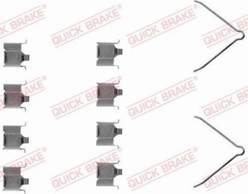 OJD Quick Brake 1091166 - Piederumu komplekts, Disku bremžu uzlikas interparts.lv