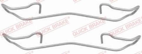 OJD Quick Brake 1091187 - Piederumu komplekts, Disku bremžu uzlikas interparts.lv