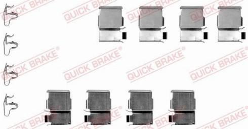 OJD Quick Brake 109-1133 - Piederumu komplekts, Disku bremžu uzlikas interparts.lv