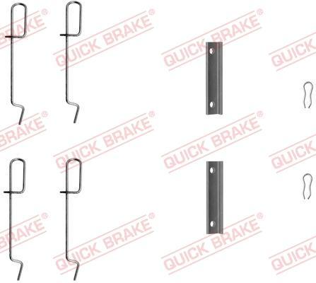 OJD Quick Brake 1091125 - Piederumu komplekts, Disku bremžu uzlikas interparts.lv