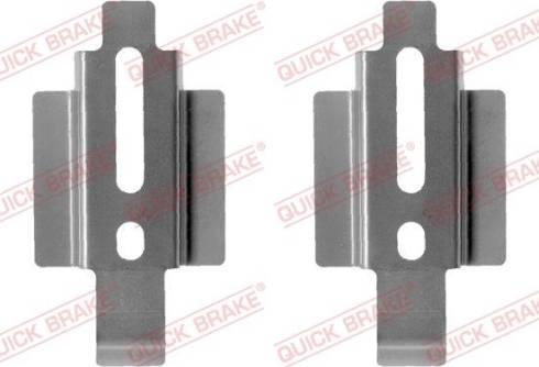 OJD Quick Brake 109-1178 - Piederumu komplekts, Disku bremžu uzlikas interparts.lv