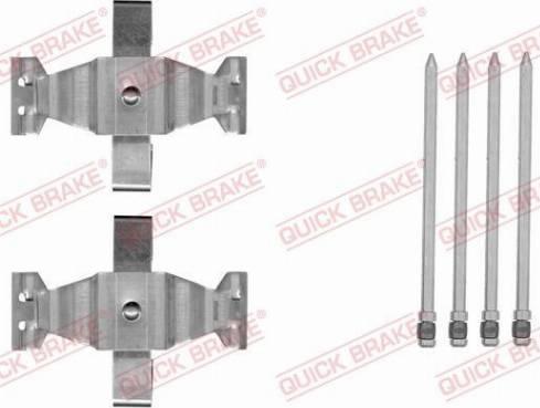 OJD Quick Brake 109-1804 - Piederumu komplekts, Disku bremžu uzlikas interparts.lv