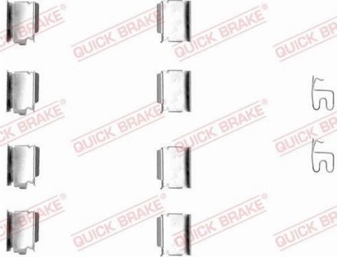 OJD Quick Brake 1091246 - Piederumu komplekts, Disku bremžu uzlikas interparts.lv