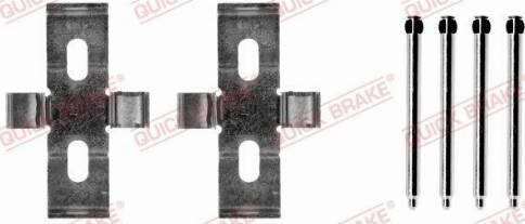 OJD Quick Brake 109-1248 - Piederumu komplekts, Disku bremžu uzlikas interparts.lv