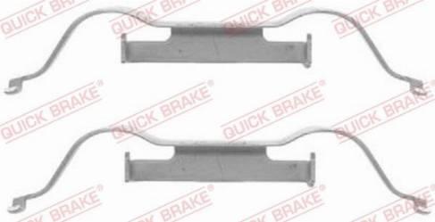 OJD Quick Brake 1091288 - Piederumu komplekts, Disku bremžu uzlikas interparts.lv