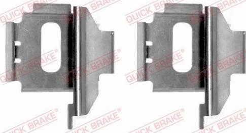 OJD Quick Brake 1091283 - Piederumu komplekts, Disku bremžu uzlikas interparts.lv