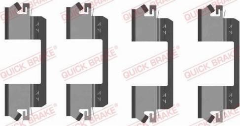 OJD Quick Brake 1091234 - Piederumu komplekts, Disku bremžu uzlikas interparts.lv