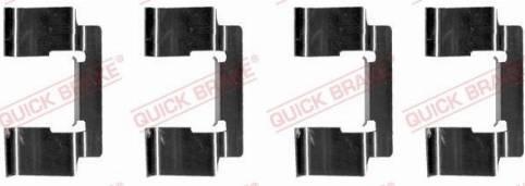 OJD Quick Brake 109-1235 - Piederumu komplekts, Disku bremžu uzlikas interparts.lv
