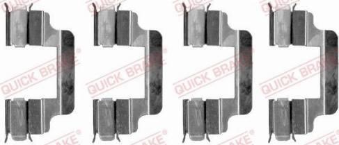 OJD Quick Brake 1091230 - Piederumu komplekts, Disku bremžu uzlikas interparts.lv