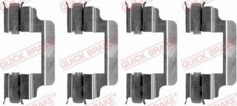 OJD Quick Brake 109-1231 - Piederumu komplekts, Disku bremžu uzlikas interparts.lv