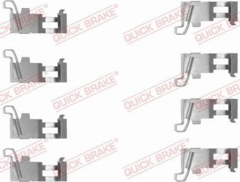 OJD Quick Brake 109-1226 - Piederumu komplekts, Disku bremžu uzlikas interparts.lv