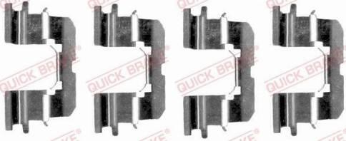 OJD Quick Brake 1091227 - Piederumu komplekts, Disku bremžu uzlikas interparts.lv