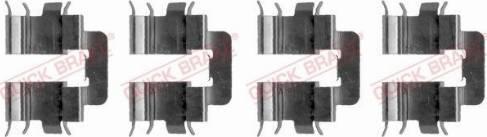 OJD Quick Brake 109-1277 - Piederumu komplekts, Disku bremžu uzlikas interparts.lv