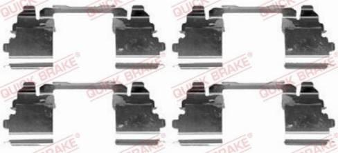 OJD Quick Brake 1091768 - Piederumu komplekts, Disku bremžu uzlikas interparts.lv