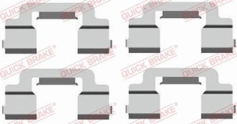 OJD Quick Brake 109-1703 - Piederumu komplekts, Disku bremžu uzlikas interparts.lv