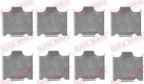 OJD Quick Brake 109-1718 - Piederumu komplekts, Disku bremžu uzlikas interparts.lv