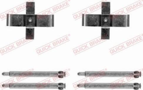 OJD Quick Brake 1091713 - Piederumu komplekts, Disku bremžu uzlikas interparts.lv