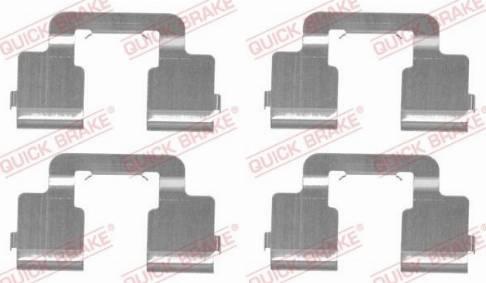 OJD Quick Brake 109-1733 - Piederumu komplekts, Disku bremžu uzlikas interparts.lv