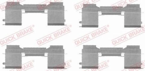 OJD Quick Brake 1091729 - Piederumu komplekts, Disku bremžu uzlikas interparts.lv