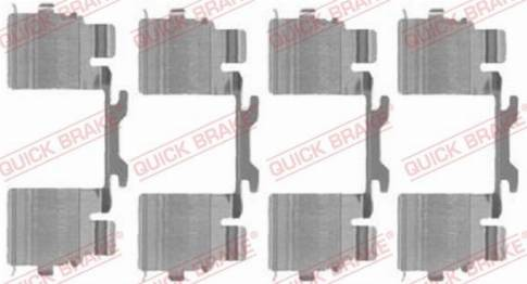 OJD Quick Brake 1091725 - Piederumu komplekts, Disku bremžu uzlikas interparts.lv