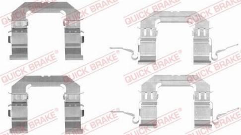 OJD Quick Brake 1091722 - Piederumu komplekts, Disku bremžu uzlikas interparts.lv