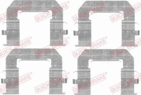 OJD Quick Brake 1091776 - Piederumu komplekts, Disku bremžu uzlikas interparts.lv