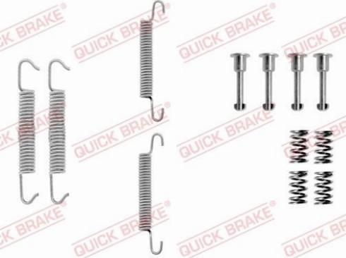 OJD Quick Brake 1050621 - Piederumu komplekts, Stāvbremzes mehānisma bremžu loks interparts.lv
