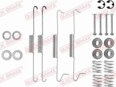 OJD Quick Brake 105-0623 - Piederumu komplekts, Bremžu loki interparts.lv