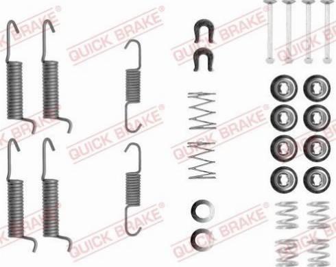 OJD Quick Brake 1050821 - Piederumu komplekts, Stāvbremzes mehānisma bremžu loks interparts.lv