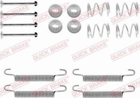 OJD Quick Brake 1050791 - Piederumu komplekts, Stāvbremzes mehānisma bremžu loks interparts.lv