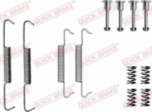 OJD Quick Brake 1050793 - Piederumu komplekts, Stāvbremzes mehānisma bremžu loks interparts.lv
