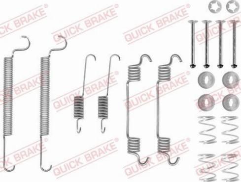 OJD Quick Brake 1050766 - Piederumu komplekts, Bremžu loki interparts.lv