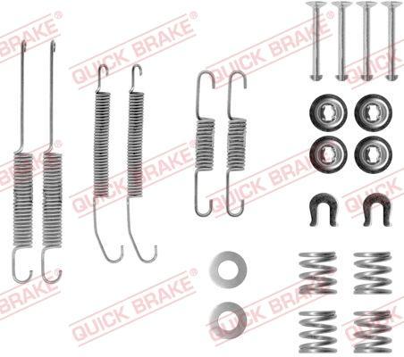 OJD Quick Brake 1050718 - Piederumu komplekts, Bremžu loki interparts.lv