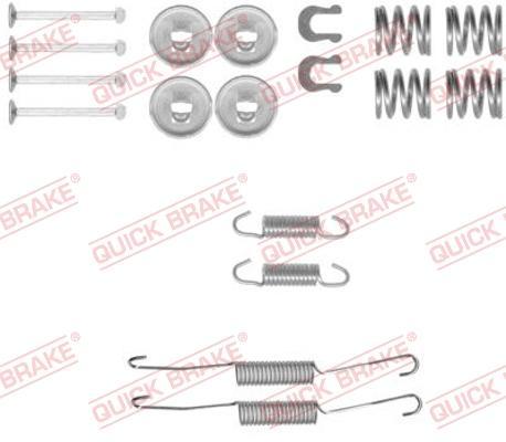 OJD Quick Brake 1050778 - Piederumu komplekts, Bremžu loki interparts.lv