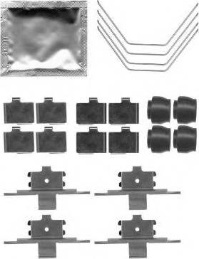 Pagid K0419 - Piederumu komplekts, Disku bremžu uzlikas interparts.lv