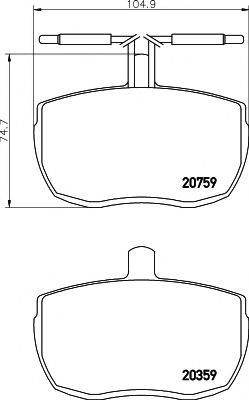 Pagid T0559 - Bremžu uzliku kompl., Disku bremzes interparts.lv