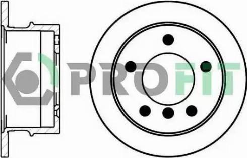 Profit 5010-0931 - Bremžu diski interparts.lv