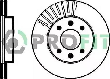Profit 5010-0158 - Bremžu diski interparts.lv