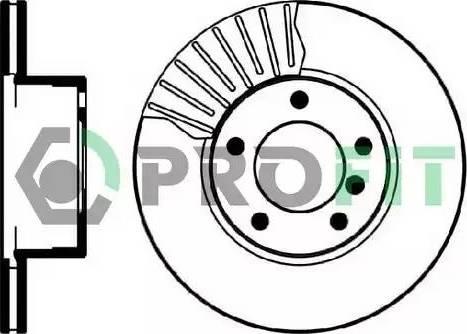 Profit 5010-0834 - Bremžu diski interparts.lv