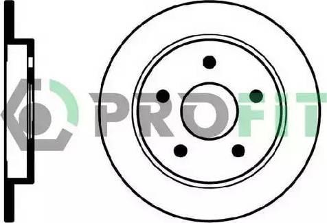 Profit 5010-0232 - Bremžu diski interparts.lv