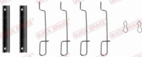QUICK BRAKE 1090992 - Piederumu komplekts, Disku bremžu uzlikas interparts.lv